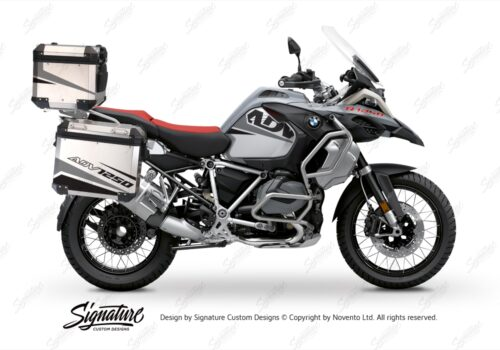 BSTI 3526 BMW R1250GS Adventure Top Box Vivo Grey Black Stickers Kit 01