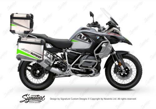 BSTI 3527 BMW R1250GS Adventure Top Box Vivo Grey Fluo Green Stickers Kit 01