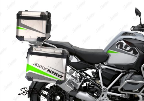 BSTI 3527 BMW R1250GS Adventure Top Box Vivo Grey Fluo Green Stickers Kit 02