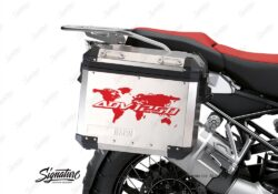 BSTI 3539 BMW R1250GS Adventure Panniers The Globe ADV1250 Red Stickers Kit 02