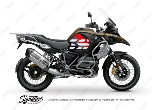 BSTI 3594 BMW R1250GS Adventure Style Ecxlusive Anniversary Limited Edition Tank Stickers Red Black 01
