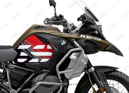 BSTI 3594 BMW R1250GS Adventure Style Ecxlusive Anniversary Limited Edition Tank Stickers Red Black 02