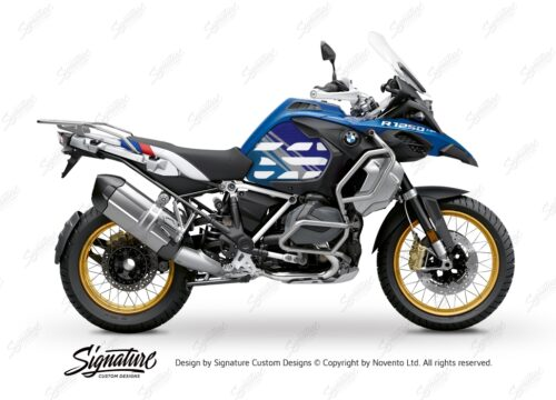 BSTI 3595 BMW R1250GS Adventure Style HP Anniversary Limited Edition Tank Stickers Blue Variations 01