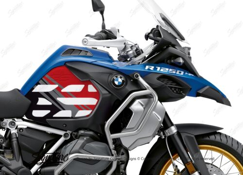 BSTI 3595 BMW R1250GS Adventure Style HP Anniversary Limited Edition Tank Stickers Red Grey 02