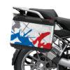 BSTI 3610 BMW R1250GS Vario Pannier Safari Red Blue Stickers Kit 02