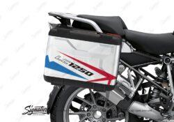 BSTI 3615 BMW R1250GS Vario Pannier Spike Red Blue Stickers Kit 02