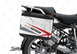 BSTI 3617 BMW R1250GS Vario Pannier Spike Red Grey Stickers Kit 02
