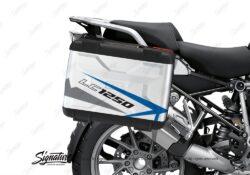 BSTI 3618 BMW R1250GS Vario Pannier Spike Blue Grey Stickers Kit 02