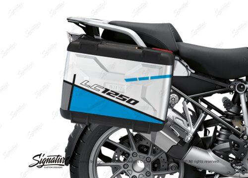 BSTI 3624 BMW R1250GS Vario Pannier Vector Light Blue Stickers Kit 02