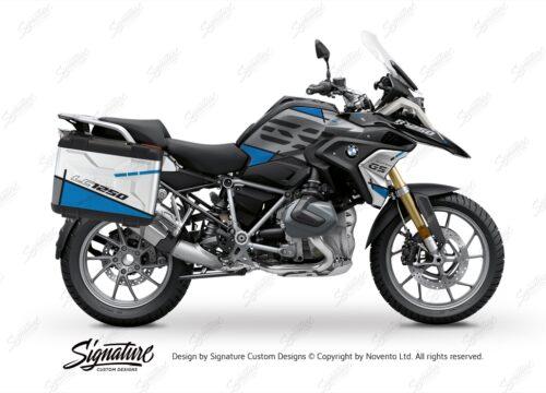 BSTI 3625 BMW R1250GS Vario Pannier Vector Blue Stickers Kit 01