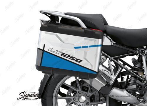 BSTI 3625 BMW R1250GS Vario Pannier Vector Blue Stickers Kit 02