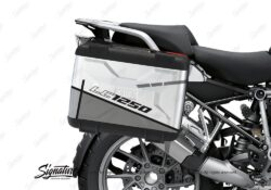 BSTI 3626 BMW R1250GS Vario Pannier Vector Grey Stickers Kit 02