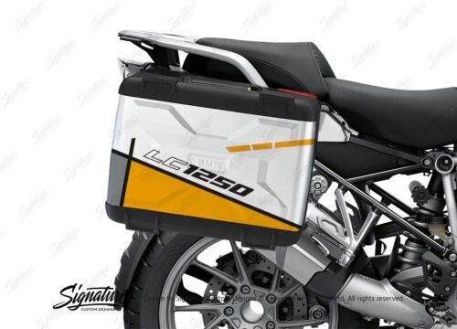 BSTI 3627 BMW R1250GS Vario Pannier Vector Yellow Stickers Kit 02