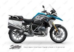 BSTI 3630 BMW R1250GS Vario Pannier Vivo Black Grey Stickers Kit 01