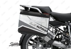 BSTI 3630 BMW R1250GS Vario Pannier Vivo Black Grey Stickers Kit 02