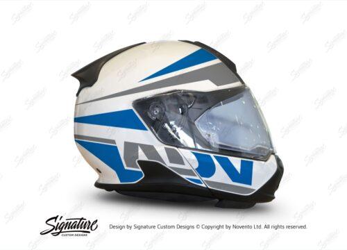 HEL 3423 BMW System 7 Light White Vivo Series Blue Grey Stickers Kit 02