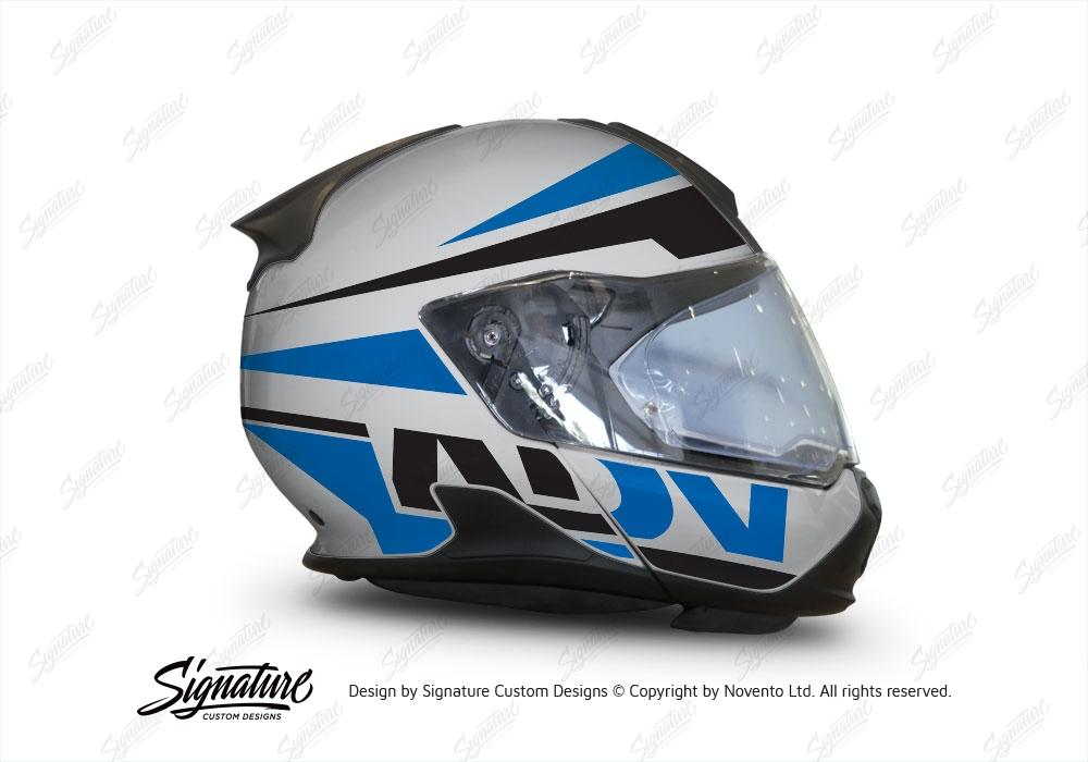 bmw system 7 helmet silver vivo series blue black. Black Bedroom Furniture Sets. Home Design Ideas