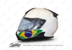 HEL 3445 BMW System 7 Light White The Flag Series Stickers Kit Brazil