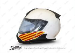 HEL 3445 BMW System 7 Light White The Flag Series Stickers Kit Catalonia