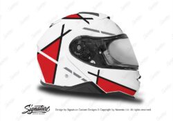 HEL 3654 Shoei Neotec II White Vector Series Red Stickers Kit Right