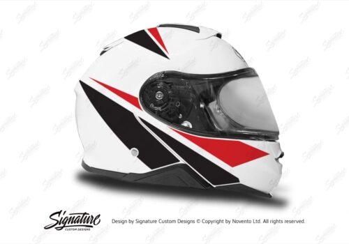 HEL 3659 Shoei Neotec II White Vivo Series Red Black Stickers Kit Right