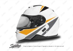 HEL 3661 Shoei Neotec II White Vivo Series Yellow Black Grey Stickers Kit Left