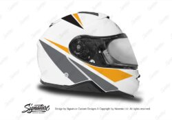 HEL 3661 Shoei Neotec II White Vivo Series Yellow Black Grey Stickers Kit Right