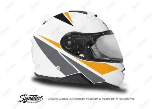 HEL 3661 Shoei Neotec II White Vivo Series Yellow Black Grey Stickers Kit Right