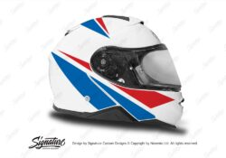 HEL 3662 Shoei Neotec II White Vivo Series Red Blue Stickers Kit Right