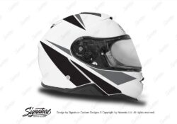 HEL 3663 Shoei Neotec II White Vivo Series Black Grey Stickers Kit Right