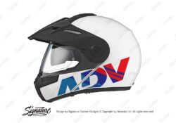 HEL 3715 Schuberth E1 White ADV Msport Stickers Kit 01