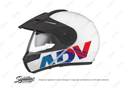 HEL 3715 Schuberth E1 White ADV Msport Stickers Kit 01