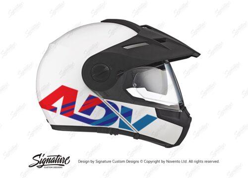 HEL 3715 Schuberth E1 White ADV Msport Stickers Kit 02