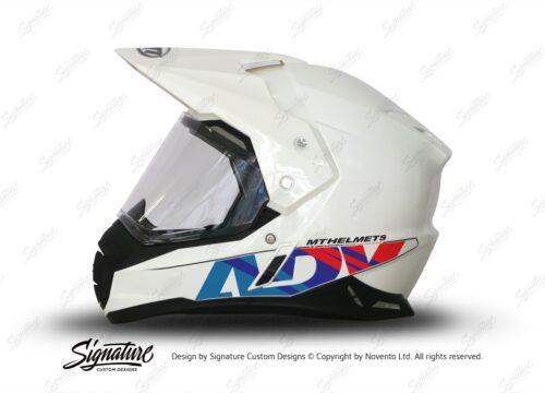 HEL 3717 MT Synchrony Duo Sport White Helmet ADV Msport Stickers Kit