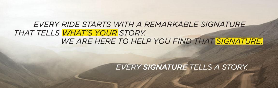 Signature Story website Slider