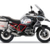 BKIT 3669 BMW R1200GS LC Adventure Alpine White HP Edition Side Tank Fender Stickers with Full Frame Panniers Red Frame