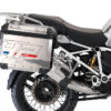 BKIT 3669 BMW R1200GS LC Adventure Alpine White HP Edition Side Tank Fender Stickers with Full Frame Panniers White 03