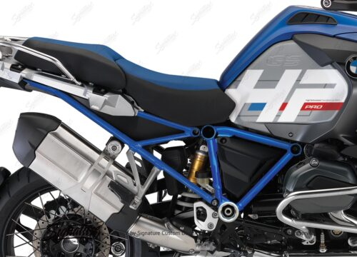 BKIT 3672 BMW R1200GS LC Adventure Racing Blue HP Edition Side Tank Fender Stickers with Full Frame Blue 03