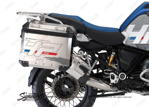 BKIT 3673 BMW R1200GS LC Adventure Racing Blue HP Edition Side Tank Fender Stickers with Panniers 03