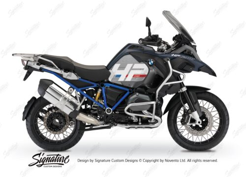 BKIT 3678 BMW R1200GS LC Adventure Ocean Blue HP Edition Side Tank Fender Stickers with Full Frame Blue 01