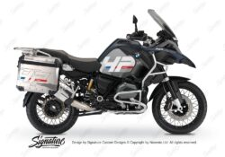BKIT 3679 BMW R1200GS LC Adventure Ocean Blue HP Edition Side Tank Fender Stickers with Panniers 01