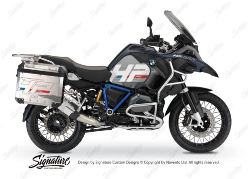 BKIT 3680 BMW R1200GS LC Adventure Ocean Blue HP Edition Side Tank Fender Stickers with Pyramid Frame Panniers Blue 01