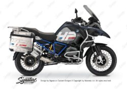 BKIT 3681 BMW R1200GS LC Adventure Ocean Blue HP Edition Side Tank Fender Stickers with Full Frame Panniers Blue 01