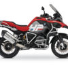 BKIT 3683 BMW R1200GS LC Adventure Racing Red HP Edition Side Tank Fender Stickers with Pyramid Frame White 01
