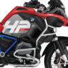 BKIT 3686 BMW R1200GS LC Adventure Racing Red HP Edition Side Tank Fender Stickers with Pyramid Frame Panniers Blue 02