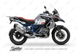 BKIT 3690 BMW R1250GS Adventure Ice Grey HP Edition Side Tank Fender Stickers with Full Frame Blue 01