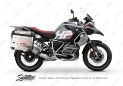 BKIT 3691 BMW R1250GS Adventure Ice Grey HP Edition Side Tank Fender Stickers with Panniers 01