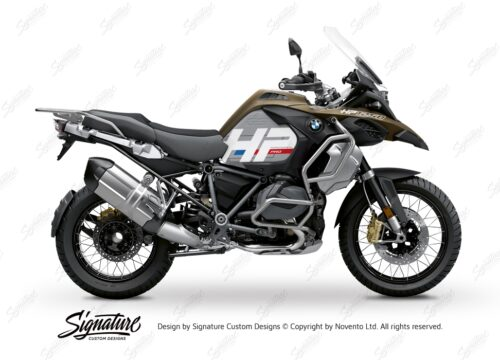 BKIT 3694 BMW R1250GS Adventure Style Exclusive HP Edition Side Tank Fender Stickers 01