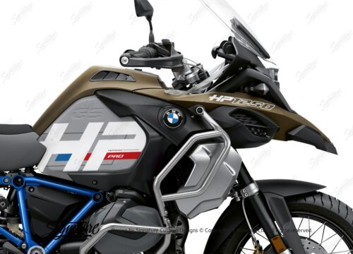 BKIT 3696 BMW R1250GS Adventure Style Exclusive HP Edition Side Tank Fender Stickers with Full Frame Blue 02