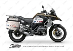 BKIT 3697 BMW R1250GS Adventure Style Exclusive HP Edition Side Tank Fender Stickers with Panniers 01